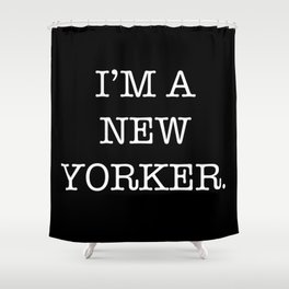 NEW YORKER Shower Curtain