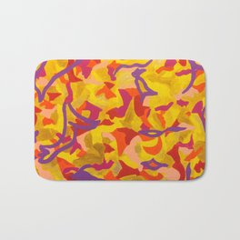 Crescent moon and birds Bath Mat
