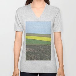 Green and Yellow Fields Spring Landscape, South Africa Unisex V-Neck