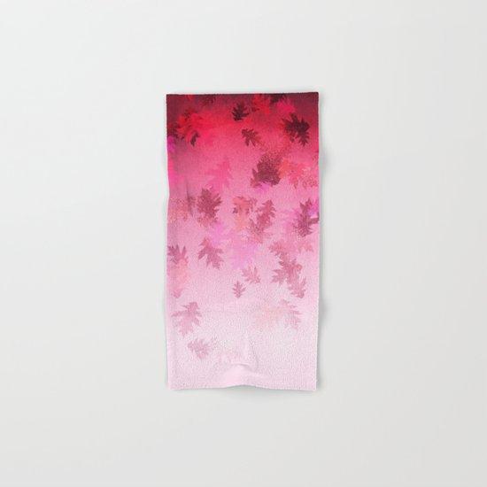 Autumn-world 4 -  leaves on pink Hand & Bath Towel