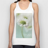 be happy Tank Tops featuring Happy by Angela Fanton