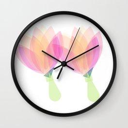 Flower Pom Poms Wall Clock