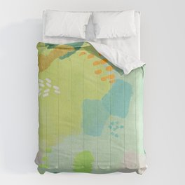 Bright Paints + Gold Comforters