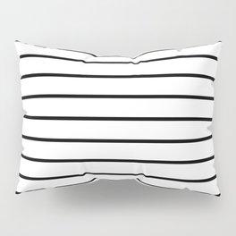 Minimalist Line Stripes Black And White Stripe Lines Pillow Sham