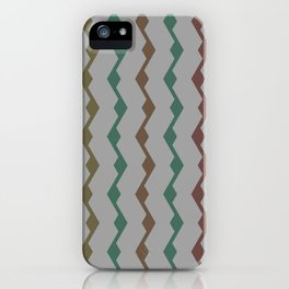 Teal lines iPhone Case