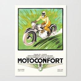 1937 Motoconfort Motorcycles Advertising Poster geo ham Canvas Print