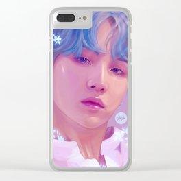 Flowerboy Suga Clear iPhone Case