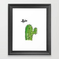 Hello Cactus Framed Art Print