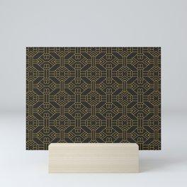 Art Deco Golden Geo Simetry Mini Art Print