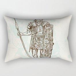 roman warrior hand draw Rectangular Pillow