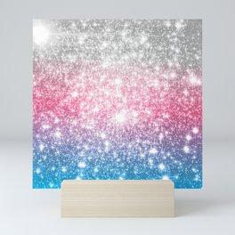 Galaxy Sparkle Stars Cotton Candy Mini Art Print
