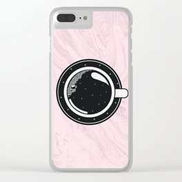 Cup of coffee with stars Clear iPhone Case