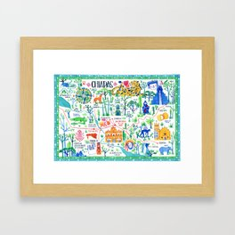 A map of Chiapas Framed Art Print