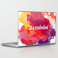 feminism Laptop & iPad Skins featuring Feminism Watercolor by Pia Spieler