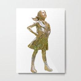 Fearless Girl Future Is Female 2 T-Shirt Metal Print