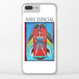 Nave espacial por Diego Manuel. Clear iPhone Case