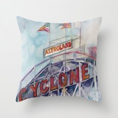 Cyclone Watercolor Throw Pillow