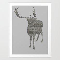 Stag Cutout Art Print