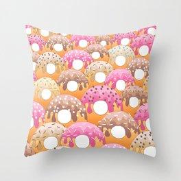 Donuts Wanderlust Throw Pillow