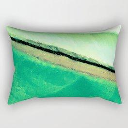 Fine Art Avant-Garde Leaf Close-Up Rectangular Pillow