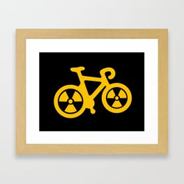 Radioactive Bicycle Framed Art Print