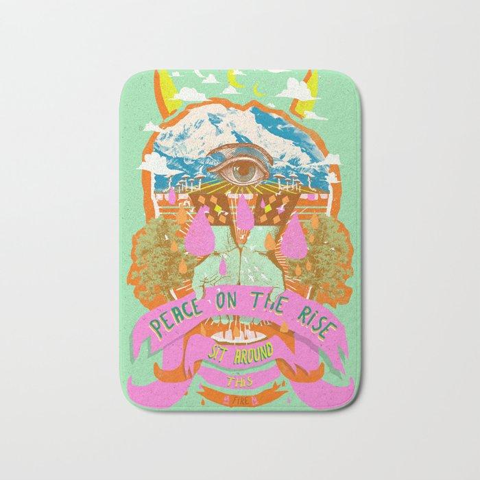 PEACE ON THE RISE Bath Mat