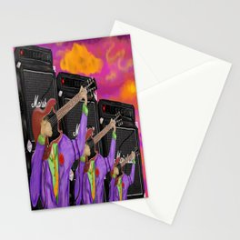 Guitar Faces in G major Stationery Cards