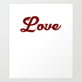 Love and coffee is all you need Art Print