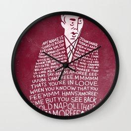 My Name is John Daker Wall Clock