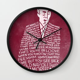 My Name is John Daker Wall Clock