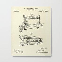 Sewing Machine-1885 Metal Print