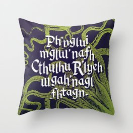 Cthulhu Waits Dreaming Throw Pillow