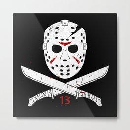 Jason mask Metal Print