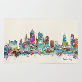 kansas city Missouri skyline Rug