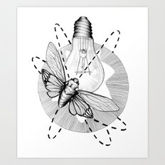 Moth to the Flame Art Print