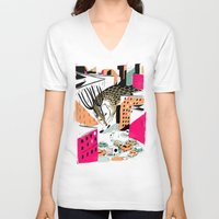 giants V-neck T-shirts featuring GIANTS! Deer by Pietari Posti