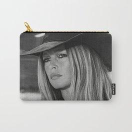Brigitte Bardot in Black Hat Carry-All Pouch