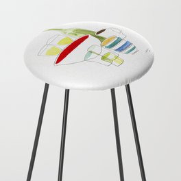 Bowls and Glasses Counter Stool
