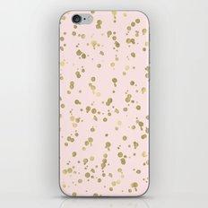 Blush Pink Gold Glam Dots iPhone & iPod Skin