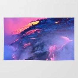 Kilauea Volcano Lava Flow. 4 Rug
