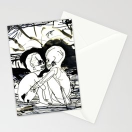 Dock Bench: Flirting with the core's allure  Stationery Cards