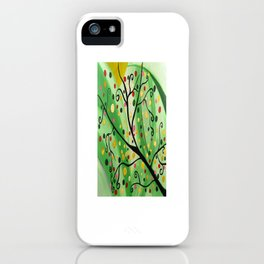 Colorful Abstract Tree Acrylic Painting Art  by Saribelle Rodriguez iPhone Case