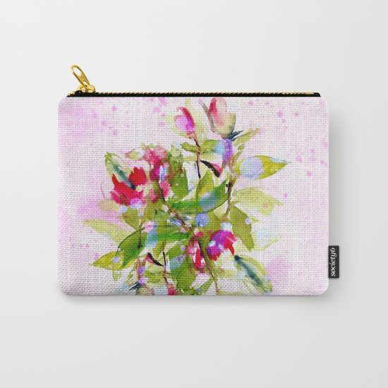 watercolors abstract bouquet Carry-All Pouch