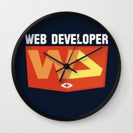 Web developer Wall Clock