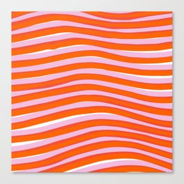 electric zebra stripes Canvas Print