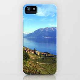 Lake Geneva Landscape  iPhone Case