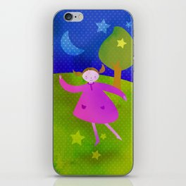 Dancing by the light of the moon iPhone Skin