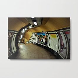 Empty London Underground Station England Metal Print