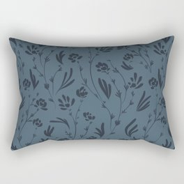 Wild Cosmos, Denim Blue Rectangular Pillow