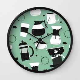 Do you even coffee? (teal) Wall Clock